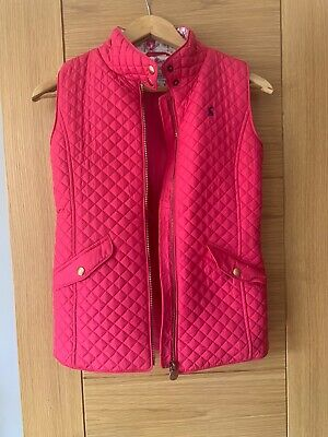 Girls Joules Classic Style Pink Quilted Gilet Age 11-12 years