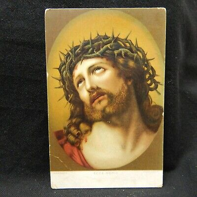 Postcard Behold The Man, By Italian Painter Guido Reni, Dresden Germany