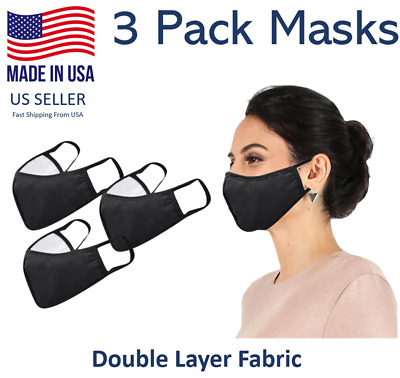 3 Pack Daily Cloth Washable Face Cover - Made in USA
