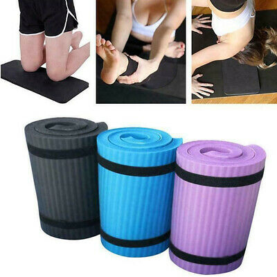 UK Extra Thick Yoga Mat 15mm Non Slip Exercise Pilates Gym Picnic Camping Straps