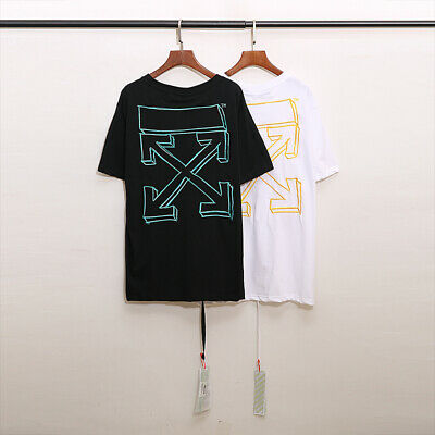 BNWT OFF-WHITE TEE PEACE MAN T-SHIRT WHITE MADE IN ITALY SUMMER/'19 ALL SIZES