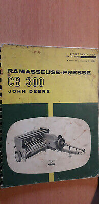 John Deere CB300 Ramasseuse Presse Catalogue de Pieces de Rechange 1968
