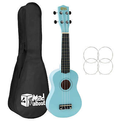 Mad About SU8 Soprano Ukulele - Light Blue with Bag,  Pick,  Spare Strings