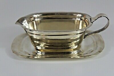 Antique Reed & Barton Sterling Silver Mayflower Gravy Boat  Ax Mark 1931