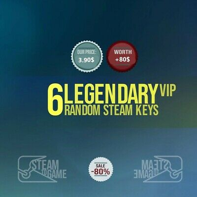 6X⚡LEGENDARY VIP⚡ Steam Random Keys GLOBAL Value $80$+ [PUBG/RUST/RED]+BONUS