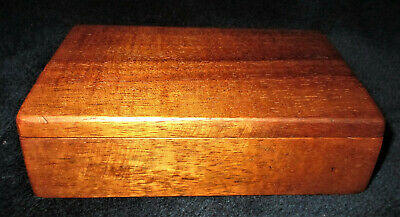 "Hawaii SIGNED VINTAGE HAWAIIAN KOA WOOD JEWELRY BOX 6"" x 4"" x 1 3/4"""