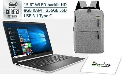 "HP 2020 15 15.6"" HD Touchscreen Premium Laptop - 10th Gen Intel Core i3-1005G1,"
