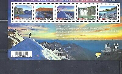 Canada SOUV. SHEET UNESCO WORLD HERITAGE SITES SCOTT 2718 VF MINT NH (BS13804)