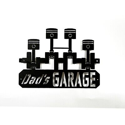 Dad's Garage / Metal Garage Sign / Man Cave Decor / Shop Sign / Garage Sign