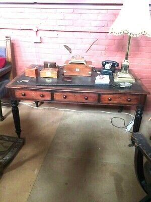 Antique George IV Mahogany Partner's Desk C.1840 Attributed to Gillows.