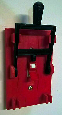 Frankenstein Single Toggle Light Switch Cover Plate Flip Handle - RED and BLACK