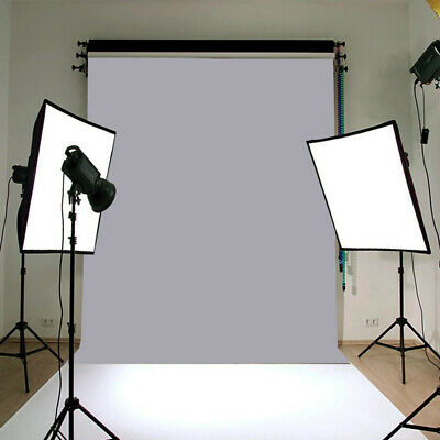 Grey Gray Photography Background Vinyl Studio Backdrop Picture Screen 150*210cm