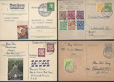GERMANY 1946 60s COLLECTION OF 20 POSTALLY USED CARDS VARIOUS FRANKINGS