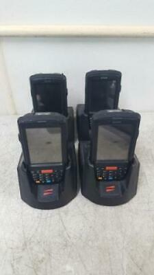 Lot of 4 Janam XP30N Mobile Barcode Scanners PDA w/ Cradle & Batteries No Power