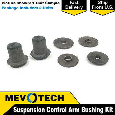 Pair Set Of 2 Front Upper Suspension Control Arm Bushings Mevotech For Caravelle