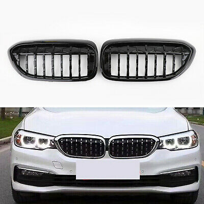 Areyourshop 2Pcs Front Kidney Grill Grille For E46 3 Series 2Dr Chrome 2003-2005