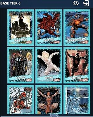 TOPPS MARVEL COLLECT 2020 Teal TIER 6 Complete 99 Card Set DIGITAL CARD