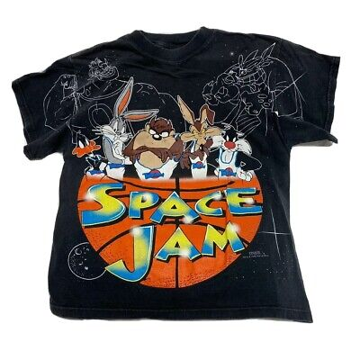 Rare Vintage Looney Tunes Space Jam 1996 T-Shirt Youth XL