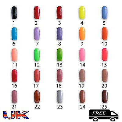 Gel Nail Polish Colour Uv Led Top Coat Soak Off 10Ml Bogo Uk Seller