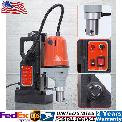 """1HP 750W Electric Magnetic Drill Press 1//2/"""" Boring 1910 LBS Force TableTop"""