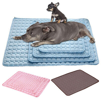 Pet Dog Cat Puppy Cooling Mat Gel Cool Pad Bed Cushion Hot Summer Heat Relief