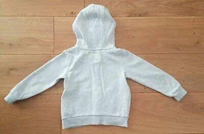 Girls grey zip hoody with pockets age 3-4 years from primark