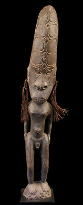 tribal figure, ancestor statue, sepik carving, papua new guinea, oceanic art
