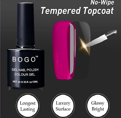 NO WIPE Gel Nail polish TOP COAT BASE COAT MATTE, Next Day 1st Class 🇬🇧UK SELL