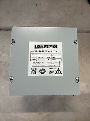 PHASE-A-MATIC Voltage Stabilizer,Max Amps 13.9,5 HP, VS-5