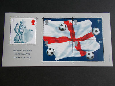 GB 2002 Commemorative Stamps~World Cup~ M/S~Unmounted Mint Set~UK