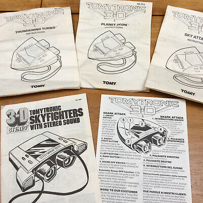 TOMYTRONIC 3D GAMES- USER MANUALS - THUNDERING TURBO - Reproductions Available