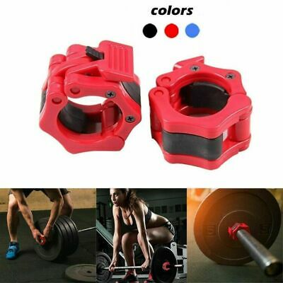 """1""""/2'' Weight Lock Jaw Collar Training Muscle Clamp Bar Barbell Buckle Lifting"""