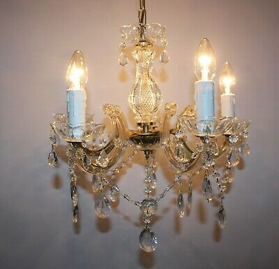 Vintage Marie Therese 5 Light Glass Crystal Chandelier  #J