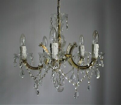 Vintage Marie Therese 5 Light Glass Crystal Chandelier  #K