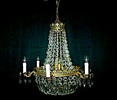 Stunning Large Empire Style Tent &  Bag 13 Light Glass Chandelier