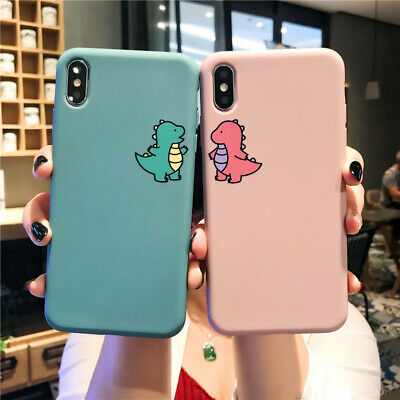 Cute Dinosaur Silicone Phone Case Cover For iPhone 11 Pro XS Max XR X 6 7 8 Plus