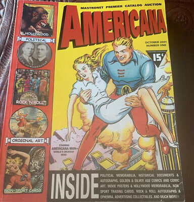 Mastronet Premier Auction Catalog Americana Collectibles Oct 2001 #1 VERY COOL