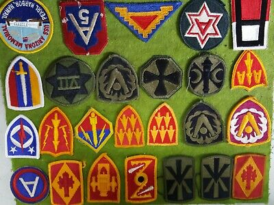 Lot Of 25 Various  U.s. Army Patches.colored & Subdued Patches. Nice Condition