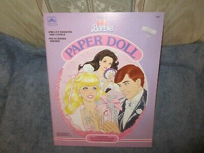 uncut  perfume pretty barbie paper doll