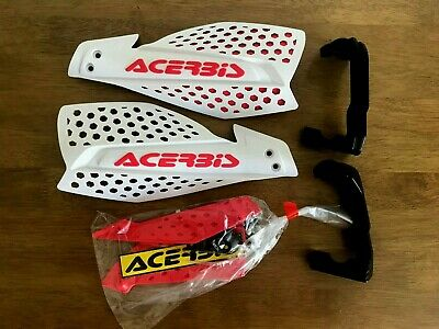 New Acerbis X - Ultimate  Universal Adjustable Hand Guards & Fittings White/Red