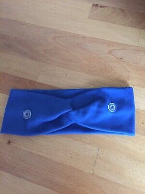 Headband with buttons for face mask  - ideal for nurses - Royal blue