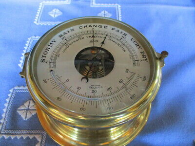 Schatz Holosteric Compensated Barometer mit Thermometer D Made in Germany