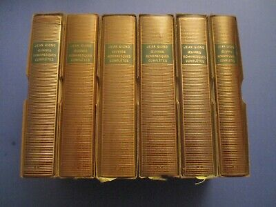 Lot 6 Volumes La Pleiade, Oeuvres Romanesques Completes, Jean Giono, Be / Tbe