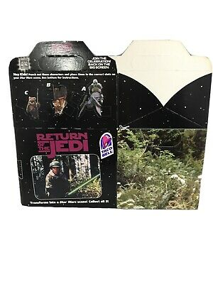 Taco Bell STAR WARS Special Edition RETURN OF THE JEDI Take Away Box *FLAT*