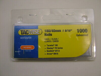2nd fix collated galvanised straight brad finish nails 18 gauge 40mm box of 1000