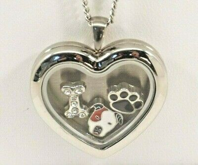 Pit Bull Heart Memory Locket Necklace, Dog Keepsake Jewelry, Pittie Memorial