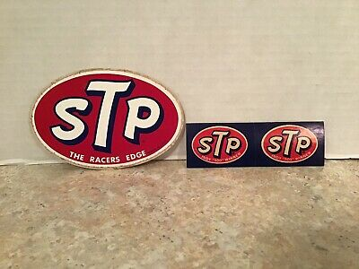 VINTAGE 60S STP THE RACERS EDGE LOT OF 4 DIFFERENT SIZE STICKERS UNUSED