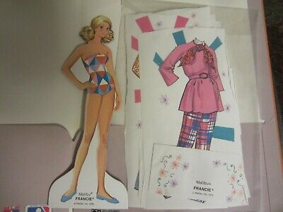 cutout 1976 malibu france paper doll and  fashions