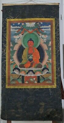 Buddha Shakyamuni, Antique Thangka, Himalayan Art