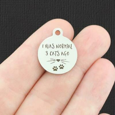 BFS4987 Funny Mom Stainless Steel Charm 30mm Silence is Golden